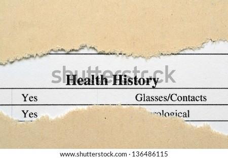 Health history - stock photo