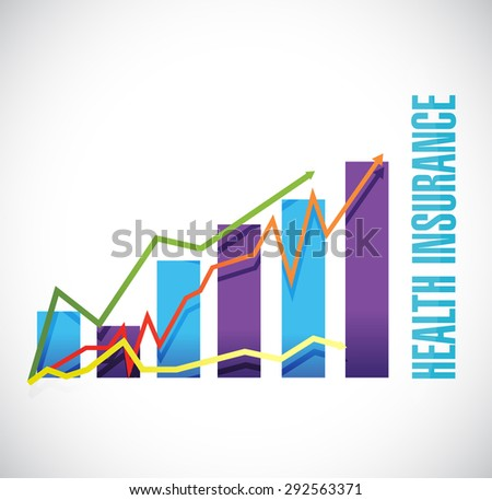 Health Insurance business graph sign concept illustration design graphic