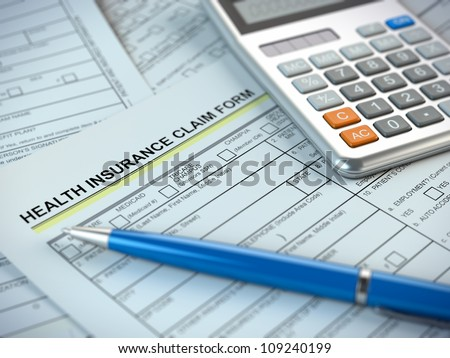 Health Insurance Claim Form - stock photo