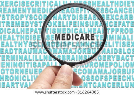 Health Insurance conceptual focusing on Medicare - stock photo