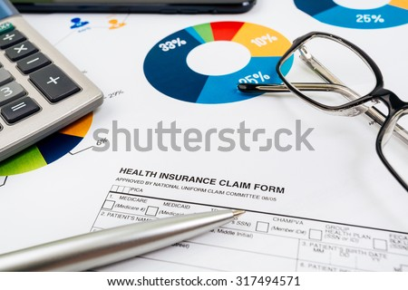 Health insurance form - stock photo
