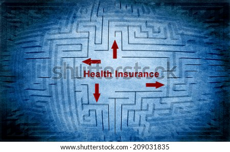 Health insurance maze - stock photo