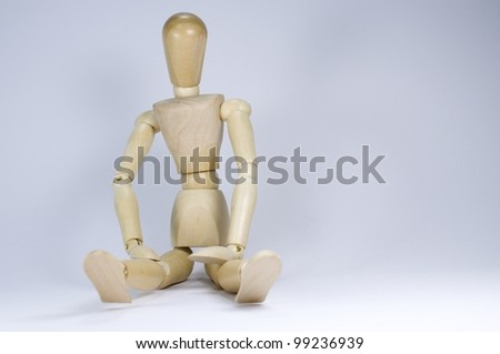 health lessons wodden puppet - stock photo