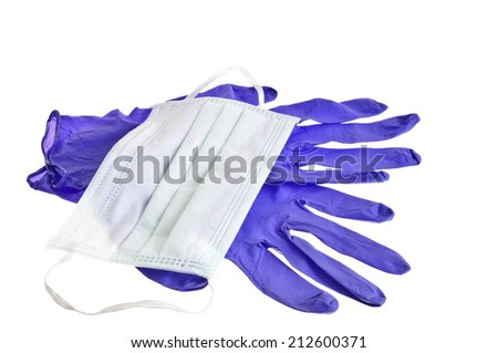 Health mask and gloves. - stock photo