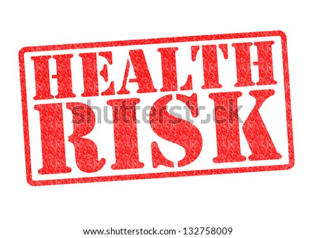 HEALTH RISK Rubber Stamp over a white background.