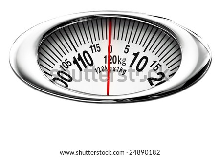 Health scale isolated on white - stock photo