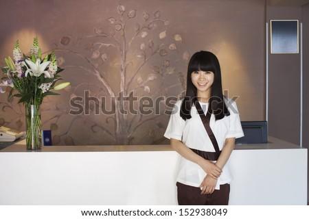 Health Spa Receptionist - stock photo
