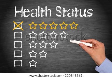 Health Status - five stars - stock photo