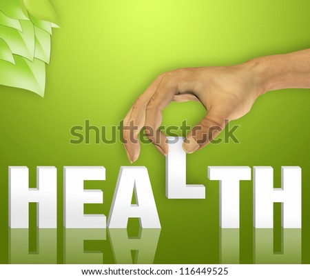 Health word concept - stock photo