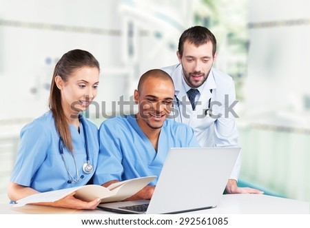 Healthcare And Medicine, Doctor, Computer.