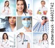 Healthcare collage made of some pictures - stock photo