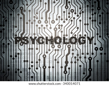 Healthcare concept: circuit board with  word Psychology, 3d render - stock photo