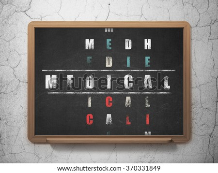Healthcare concept: Medical in Crossword Puzzle - stock photo