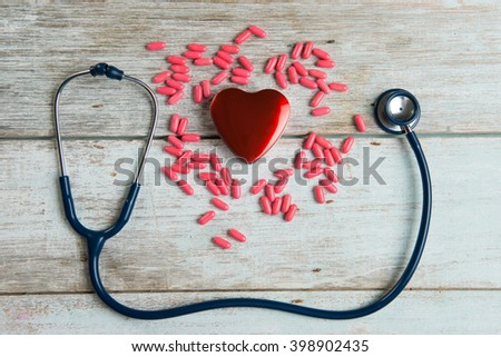 healthcare concept with stethoscope and heart