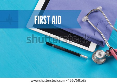 HEALTHCARE DOCTOR TECHNOLOGY  FIRST AID CONCEPT - stock photo