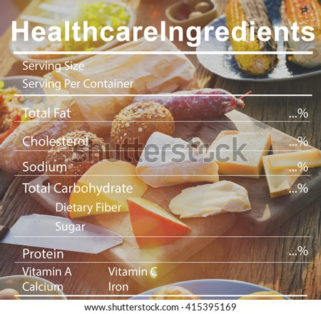 Healthcare Ingredients Welness Welbeing Nutrition Concept - stock photo