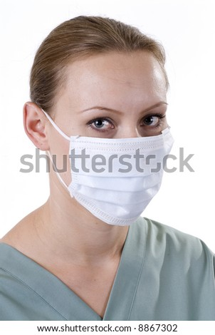 Healthcare Professional with Surgical Mask