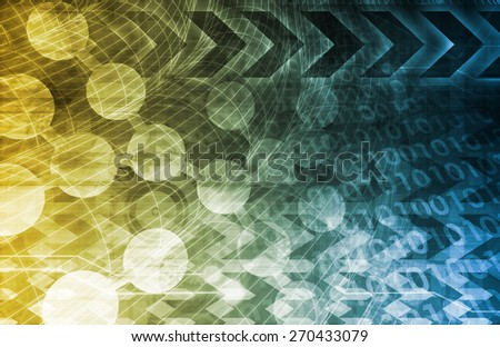 Healthcare Science Industry as a Concept Abstract in Blue and Yellow - stock photo