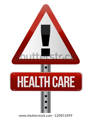healthcare sign illustration design over a white background