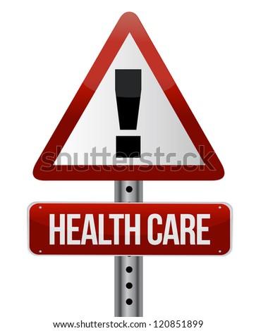 healthcare sign illustration design over a white background - stock photo