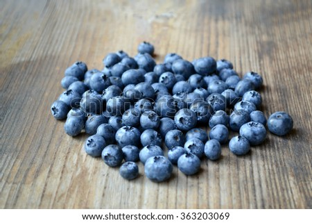 Healthy and delicious blueberries