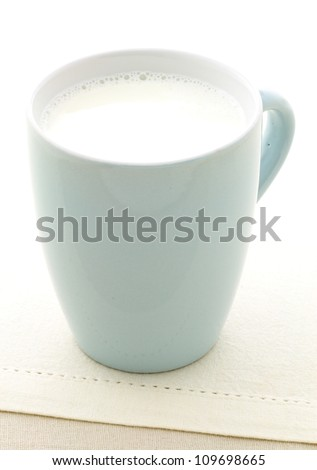 healthy and delicious cup of organic fresh milk - stock photo