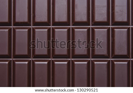 Healthy and delicious dark chocolate tablet. - stock photo
