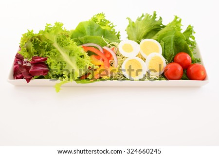 Healthy and delicious salad