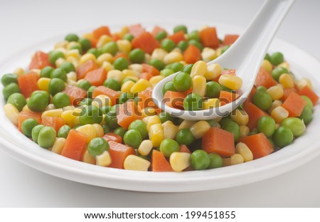 healthy and fresh vegetables prepared salad - stock photo