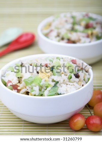 Healthy asian rice dish