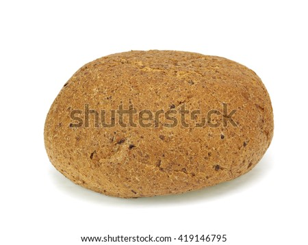 Healthy bran bread on a white background  - stock photo