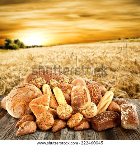 healthy bread and sky of summer