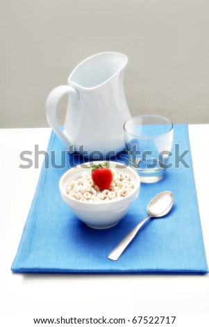 healthy breakfast with cereal