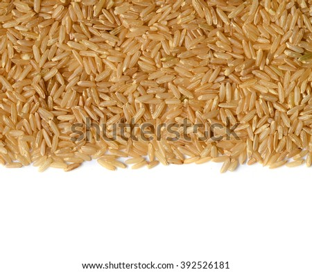 Healthy brown rice uncooked, close up shot