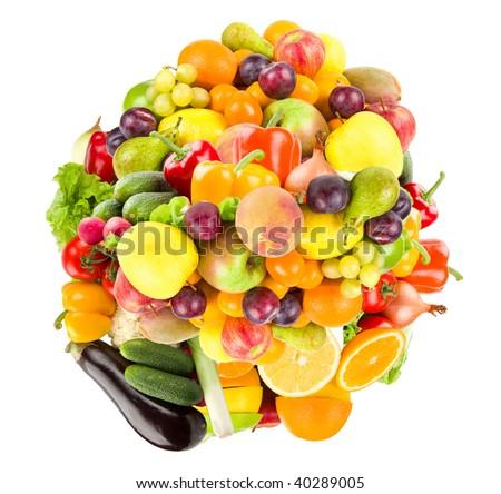 Healthy bunch of food - stock photo