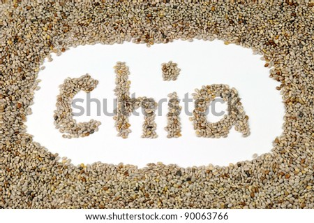 Healthy Chia Seeds for Weightloss - stock photo