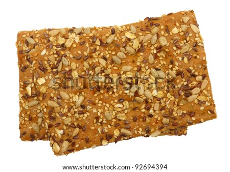 Healthy cracker, isolated against background