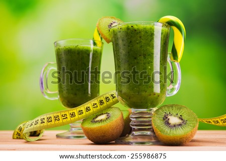 Healthy diet of fat burning cocktail - stock photo