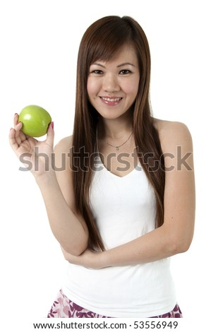 Healthy Eating Concept. Isolated over white. - stock photo