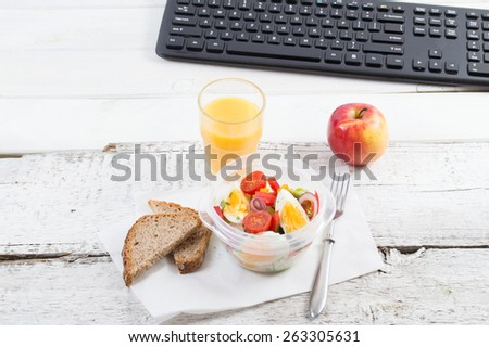 healthy eating lunch work food office stock photo royalty free