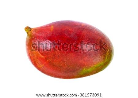 Healthy eating: Fresh juicy fruit, ripe Mango. Studio Photo - stock photo