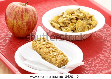 Healthy eating meal that kids will love with family menus and school meals for eating well year round. - stock photo
