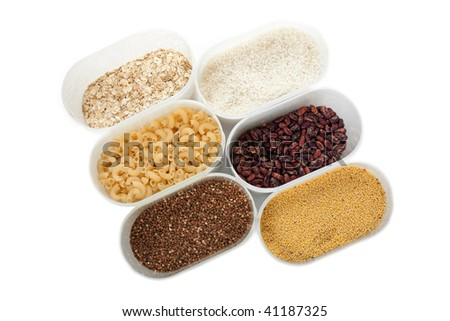 Healthy eating plant cereals seed food ingredient - stock photo
