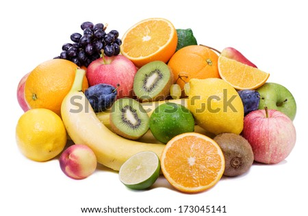 Healthy eating,ripe fruit with juicy pulp. - stock photo
