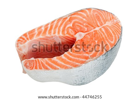 Healthy eating seafood - red raw salmon fish food