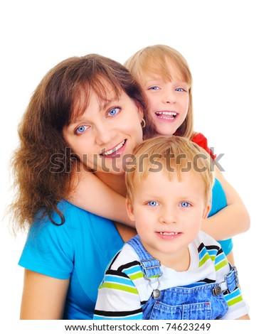 Healthy family - stock photo