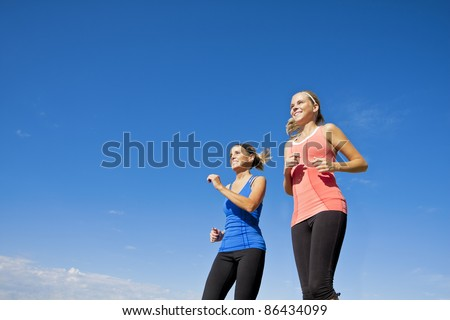 Healthy Female Joggers - stock photo
