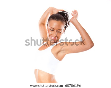 healthy fitness woman movement - stock photo