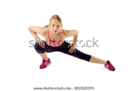 Healthy Fitness Woman Stretching Exercise