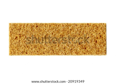 Healthy food, a crispbread isolated over white